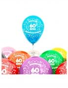 Ballons 60 Jahre 8 Stück bunt