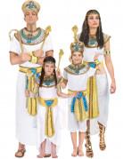 Ägypter-Familienkostüm Karneval weiss-blau-gold