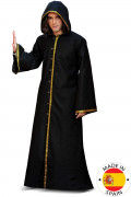 Gothic Mittelalter Zauberer Premium Kostüm für Herren schwarz