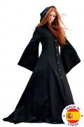 Mittelalterlicher Premium-Elfenmantel für Damen schwarz