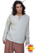 Mittelalterliches Bauernhemd - Premium-Kostüm für Herren - beige