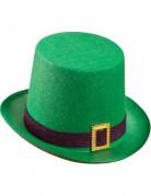 Zylinder mit Schnalle St. Patrick´s Day Hut grün-schwarz