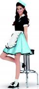 American Diner Girl Kostüm blau M