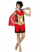 Römisches Gladiatoren-Frauenkostüm gold-schwarz-rot