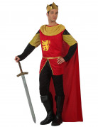 König-Kostüm für Herren, rot-schwarz-gold