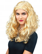 Minipli Langhaar Locken-Perücke blond