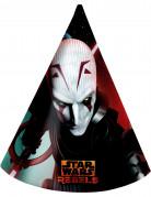 Geburtstags Partyhüte Lizenzartikel Star Wars Rebels 6 Stück bunt