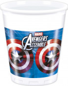 Party Plastikbecher Lizenzartikel Avengers weiss-blau-rot