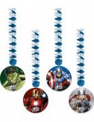Spiral Hängedeko Lizenzartikel Avengers 4 Stück bunt