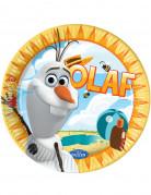Party Pappteller Lizenzartikel Die Eiskönigin Olaf 8 Stück bunt 23cm