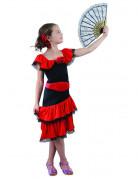 Flamenco-Kleid Mädchenkostüm Spanien rot-schwarz