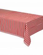 Party-Tischdecke rot-weiss 137x274cm