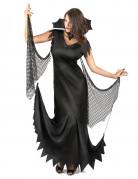Gothic-Vampirin Halloween-Damenkostüm schwarz
