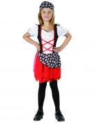 Piraten-Mädchen Kinderkostüm schwarz-rot-weiss