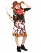 Cowgirl Kinder-Kostüm braun-rot-weiss