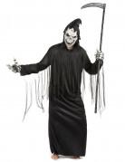 Sensenmann Robe Halloweenkostüm Henker schwarz