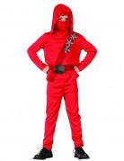 Ninja Kinderkostüm japanischer Krieger rot