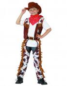 Cowboy-Kinderkostüm Wilder Westen braun-weiss