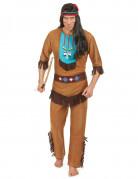 Indianer Herren-Kostüm braun-bunt