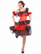 Flamenco-Damenkostüm Spanische Tänzerin rot-schwarz