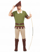 Robin Hood Herrenkostüm grün-braun-beige