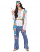 Flower-Power Hippie-Herrenkostüm 70er Jahre bunt