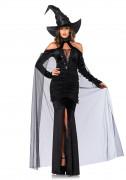 Verführerische Hexe Halloween-Damenkostüm schwarz