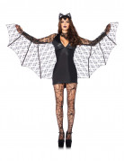 Sexy Vampir-Fledermaus Halloween Damenkostüm schwarz