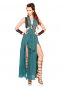 Sexy Mittelalter Wikingerin Kriegerin blaugrün