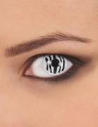 Kontaktlinsen Zebra schwarz-weiss