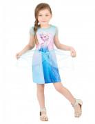 Elsa-Kleid für Mädchen Die Eiskönigin Kinderkostüm Lizenzkostüm blau-rosa