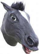Lustige Maske Pferd für Erwachsene schwarz
