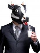 Lustige Maske Kuh für Erwachsene schwarz-weiss