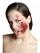 Verunreinigte Wunde Horror-Applikation haut