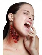 Zerfetzte Haut Latexapplikation Halloween-Wundenapplikation rot-hautfarbe 5x10cm