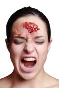 Klaffende Wunde Horror Make-up haut