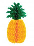 Ananas Wabendeko Party-Deko gelb-grün 21,5cm