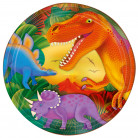 Dino Party Teller 8 Stück bunt 23cm
