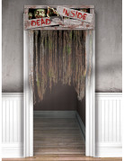 Zombie Fetzen Tür-Vorhang Halloween Party-Deko grau 140x97cm