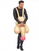 Lustiges Penis-Kostüm für Erwachsene hautfarben