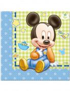 Packung Servietten Baby Mickey von Disney bunt