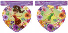 Tinkerbell-Girlande Disney-Lizenzartikel violett-bunt 230cm