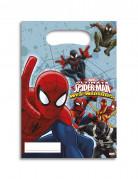 Spiderman Party-Tüten Party-Deko 6 Stück bunt 17x26cm