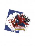 Spiderman Einladungskarten Party-Zubehör 6 Stück bunt 14x9cm