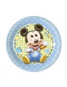 Micky Maus™ Partyteller 8 Stück Lizenzware 20cm