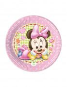 Baby Minnie™ Pappteller für Kindergeburtstage Disney™ Lizenzartikel Tischdeko 8 Stück bunt 20cm
