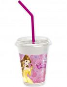 Disney Prinzessinnen™ Becher mit Strohhalmen 12 Stück Lizenzware