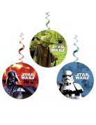 Star Wars Hängespiralen Party-Deko 3 Stück bunt 70x15x15cm