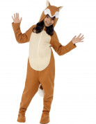 Fuchs Kinderkostüm Jumpsuit braun-weiss
