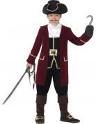 Kostüm Piratenkapitän für Jungen schwarz-bordeaux